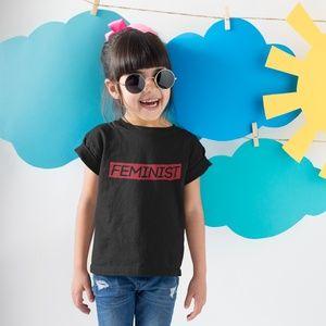 Feminist w/Red Outline T-Shirt